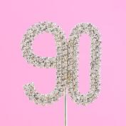 4,5cm Diamante Cake Number 90