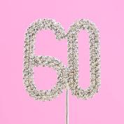 4,5cm Diamante Cake Number 60