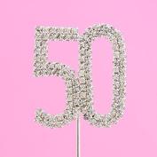 4,5cm Diamante Cake Number 50