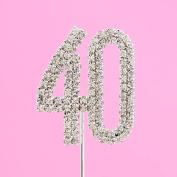 4,5cm Diamante Cake Number 40