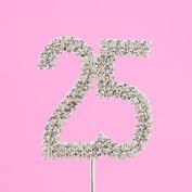 4,5cm Diamante Cake Number 25