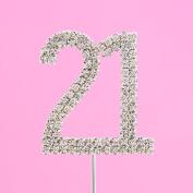 4,5cm Diamante Cake Number 21