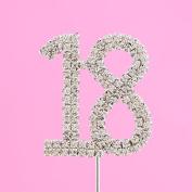 4,5cm Diamante Cake Number 18