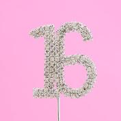 4,5cm Diamante Cake Number 16