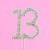 4,5cm Diamante Cake Number 13