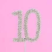 4,5cm Diamante Cake Number 10