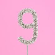 4,5cm Diamante Cake Number 9