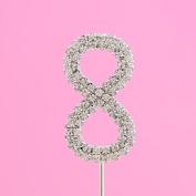 4,5cm Diamante Cake Number 8