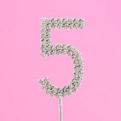 4,5cm Diamante Cake Number 5