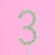 4,5cm Diamante Cake Number 3