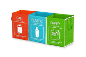 Trash Recycling Bins Bag Recycle Box Waterproof hook and loop attachments