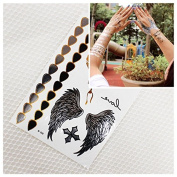 Fashion Jewellery Bracelets as temporary Flash Tattoos Golden + Silver WINGS 3-er Set - LK Trend & Style