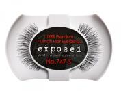 Exposed FALSE EYELASHES 100% Natural Hair HAND CRAFTED No.747-S