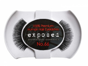 Exposed FALSE EYELASHES 100% Natural Hair HAND CRAFTED No.66