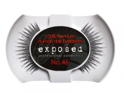 Exposed FALSE EYELASHES 100% Natural Hair HAND CRAFTED No.46
