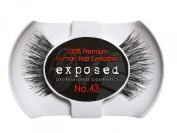 Exposed FALSE EYELASHES 100% Natural Hair HAND CRAFTED No.43