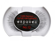 Exposed FALSE EYELASHES 100% Natural Hair HAND CRAFTED No.12