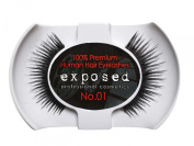 Exposed FALSE EYELASHES 100% Natural Hair HAND CRAFTED No.01