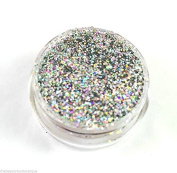 Glitter Pot - GH63 Holographic Silver Chunky Glitter Eye Eye shadow Nail Art Face And Body