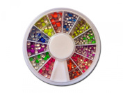 RM Beauty Nails Neon Button/Dots - 540 pieces - Plate for Nail Art and Nail Art