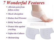 HappyStep Silicone Gel Heel Sock Reduce Pressure on Heel, Relief Heel Pain and Cracked Heel