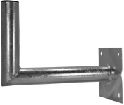 A.S. SAT Wall Mount Hot-Dip Galvanised Steel 40 cm Distance from Wall 60 mm Diameter Holder Tube
