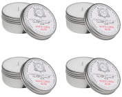 Aquiesse Travel Tin Candle Set, 4 Pack, White Coral Musk