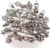 ALL in ONE 60 Gramme Mixed Antique Silver Tibetan Style Beads/flower Cup Beads/spacer Beads Charms Jewellery Findings