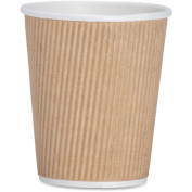 Genuine Joe 240ml Ripple Hot Cups