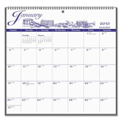 AT-A-GLANCE 12-Month Illustrator���s Edition Wall Calendar 2016