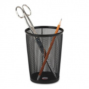 Rolodex Nestable Jumbo Black Wire Mesh Pencil Cup