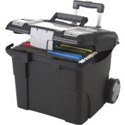 Storex Portable File Box on wheels