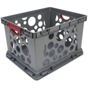 Storex Recycled Filing Crate with Comfort Handles