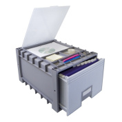 Plastic Archive Storage Box with Lid, Letter Size, 46cm Drawer