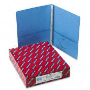 Smead Two-Pocket Blue Portfolios with Tang Fasteners