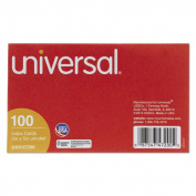 Universal White Unruled Index Cards