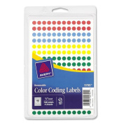 Assorted Avery Removable Self-Adhesive Colour-coding