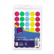 Assorted Avery See-Through Removable Colour Dots- 1.9cm