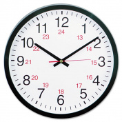 Universal 24-Hour Black Round Wall Clock