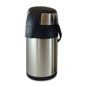 Genuine Joe High Capacity Stainless Steel Vacuum Airpot