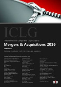 The International Comparative Legal Guide to: Mergers & Acquisitions 2016
