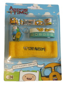 Official Licenced Adventure Time Jake & Finn Nerd Pack Stay Awesome Headband, Lanyard, Keyring & 2 Wristbands
