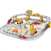 Electronic Racing Rail Car Trucks Railway Set Educational Learning Toy for kids Boys