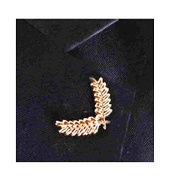 gold plated Lapel Pin Badge / tie pin,or buy two for collar tips, in gift box