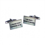 I Am Not What Happened To Me I Am What I Choose To Become Cufflinks X2BOCR136