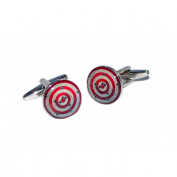 Cool Shooting Target with Bullet Holes Cufflinks X2BOC153