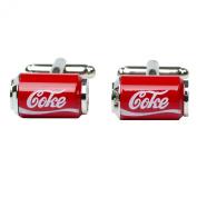Cufflinks coke can shape fancy cufflinks pair for mens