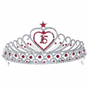 Sweet 15 & 16 Red Sparkling Crystal Heart Star Quinceanera 8.9cm Tiara