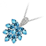 GWG® Sterling Silver Plated Bunch of Sparkling Austrian Coloured Crystal Fruits Pendant Necklace for Women