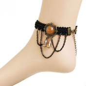 European Style Gothic Retro. Braided Rope Alloy Handcrafted Gift Women Anklet
